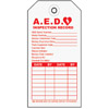 (100)AED SERVICE TAG