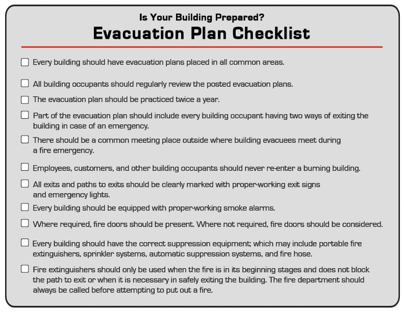 Brooks Fire Prevention Checklist Image