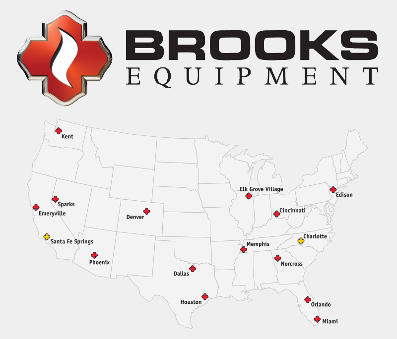 Brooks Logo with Map
