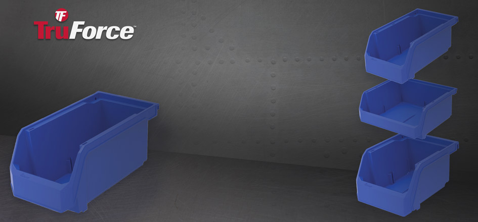 TruForce plastic storage bins